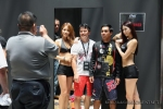 Team Lakay's Mark Sangiao and Kevin Belingon with ONE FC hotties