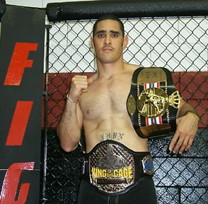 Ron Jhun with KOTC and IFC belts.
