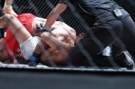 BJ Kojima tightens the guillotine choke on Rey Docyogen