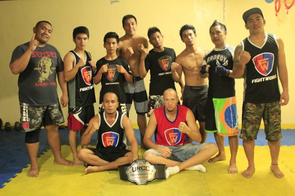 Fight Works MMA with their head coaches Brando Quiocho (bottom left) and Pete Brooks (bottom right)