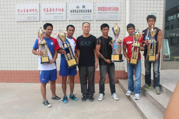 Photos of Filipino Wushu Fighters who won in the recent